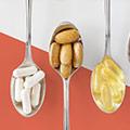 Skeer fyldt med piller - kosttilskud