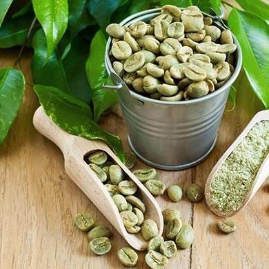 Tab dig hurtigt med grønne kaffebønner