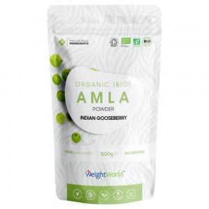 Bio Amla Pulver - Organisk Fremstillet Pulver for Beskyttelse af Immunforsvar & Hjerte - 500g