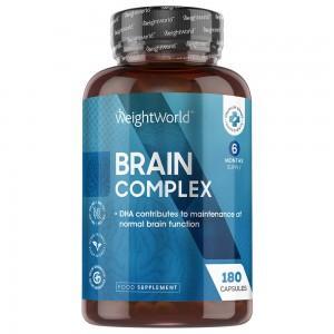 Brain Complex - Mental Sundheds Kosttilskud med Vitaminer - 180  Kapsler