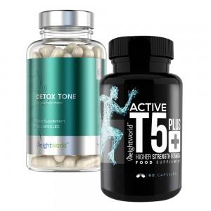 Active T5 & Detox Tone - Dobbeltpakke - 2x60 kapsler