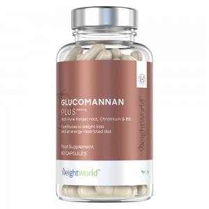 Glucomannan Plus 60 kapsler 3000mg weightworld