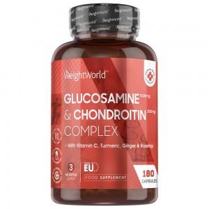 Glucosamine og Chondroitin - Naturligt Kosttilskud for Sunde Led - 180 Kapsler