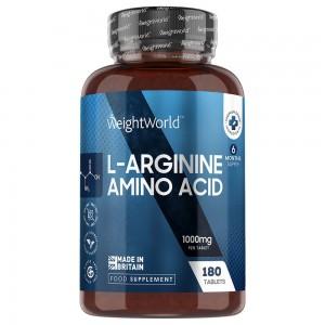 L-Arginin - Kosttilskud til fitness, muskler og udholdenhed - 180 Tabletter