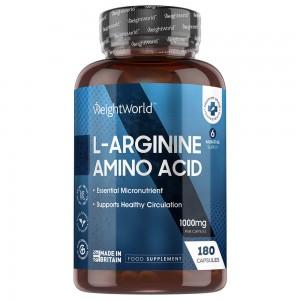 L-Arginine - Fitness Kosttilskud for Muskelopbygning og Udholdenhed - 180 Kapsler