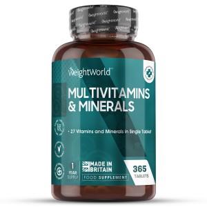 Multivitaminer og Mineraler 365 tabletter | Naturligt tilskud til velvære