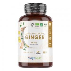 Økologiske Ingefærkapsler - Naturligt Kosttilskud for Hjertet og Maven - Balance i Kroppen - 650 mg