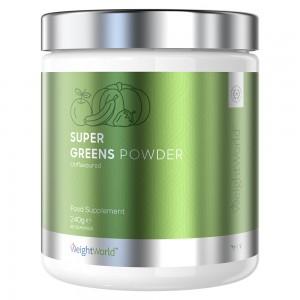Super Greens - Virksomt Plantebaseret Pulver for Vægtkontrol og Vitalitet - 240g