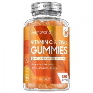 C-vitamin og Zink vingummier  - WeightWorld