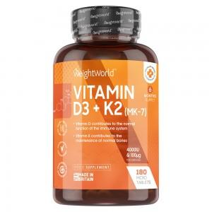 Vitamin D3 + K2 Tabletter | Kosttilskud til vedligeholdelse af normale knogler og normalt fungerende immunsystem