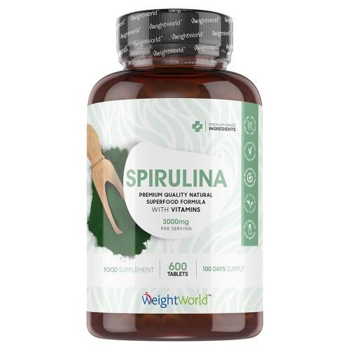 Organic Spirulina Tablets  3000MG Per Serving Vitamin
