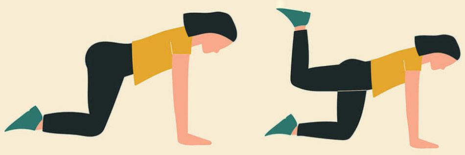 'Knæfirestående benløft med bøjet knæ' er den perfekte øvelse til balder af stål, og kan uden problemer udføres i hjemmet.