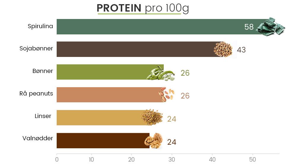 Spirulina pulver 200g højt proteinindhold